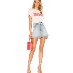 Hudson Vivid Denim Mini Skirt In High & Dry